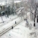 Snow in Chisinau, 21 April 2017