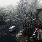Snow in Kishinev, 20 April 2017