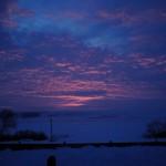 Winter Sunrise in Goian, Villa Nistru.