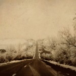 Vintage-effect Poltavka Road.