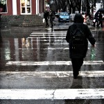 Passersby at an Intersection in Kishinev