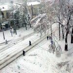 Snow in Chisinau, 21 April 2017