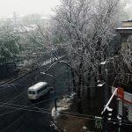 Snow in Kishinev, 20 April 2017